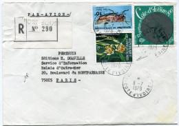 COTE D'IVOIRE LETTRE RECOMMANDEE PAR AVION DEPART PORT-BOUET 11-7-1979 POUR LA FRANCE (AFFRANCHISSEMENT DONT N°462A) - Ivory Coast (1960-...)