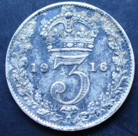 3 PENCE ARGENT GEORGES V 1916 - Andere