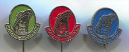 Ship Boat - HOLLAND AMERIKA Line, Pin Badge, 3 Pieces - Barcos