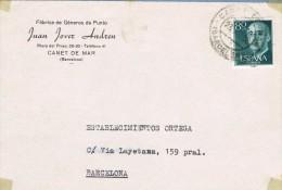 14265. Frontal Comercial CANET De MAR (Barcelona) 1956 - 1931-Hoy: 2ª República - ... Juan Carlos I