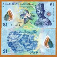 Brunei 1 Dollars 2011 Pick 35 UNC - Brunei