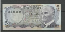 TURQUIE : 5 LIRA - NEUF - Turkey