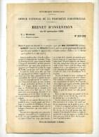 - SYSTEME DE COUPE DES CIGARETTES POUR MACHINES A BOUDIN CONTINU  . BREVET D´INVENTION DE 1902 . - Non Classificati