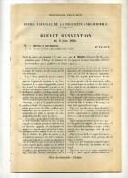 - HALAGE DES BATEAUX SUR LES CANAUX ET LES EAUX TRANQUILLES . BREVET D´INVENTION DE 1902 . - Technics & Instruments