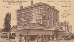 Belgique - Gembloux - Hôtel Des Voyageurs Café Restaurant Place De La Gare - Autobus Taxis - Gembloux