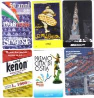 Lotto 6 Schede Telefoniche Nuove 5000+10000 Lire Tot 40000 Lire Cod.schede.040 - Italy