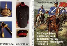 HUGO F W  SCHULZ  KAVALLERIE  REGIMENTER 1913 1914  -  133 PAGES AVEC SON BOITIER  -  NOMBREUSES ILLUSTRATIONS - 5. Guerres Mondiales