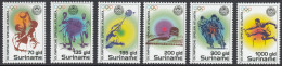 Surinam 1996 Summer Olympic Games in Athens: Basketball, swimming, badminton, cycling, athletics. Mi 1554-1559 MNH