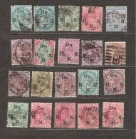 Lot De Timbres Inde Britannique Type Service On H M S - Inde (...-1947)