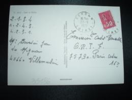 CP TP MARIANNE DE BEQUET 0,50 OBL.27-9-1972 CERDON LOIRET (45) - Marcophilie (Lettres)