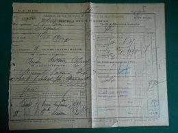 Récépissé En 1900 CHEMINS DE FER P L M  Départ Gare De MARSEILLE ARENC  Sté DESCOURS & CABAUD  > Seyne 04 - Transport