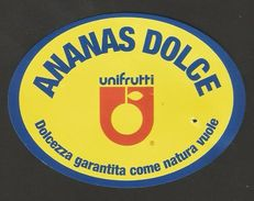 # PINEAPPLE UNIFRUTTI Fruit Tag Balise Etiqueta Anhanger Ananas Pina Costa Rica - Fruits & Vegetables
