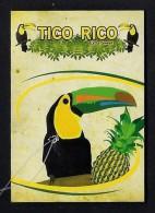 # PINEAPPLE TICO RICO Fruit Tag Balise Etiqueta Anhanger Ananas Pina Costa Rica Toucan Tucan Tucano Tukan - Fruits & Vegetables