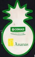 # PINEAPPLE CONAD Fruit Tag Balise Etiqueta Anhanger Costa Rica Ananas Pina - Fruits & Vegetables