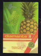 # PINEAPPLE DIAMANTE PREMIUM Fruit Tag Balise Etiqueta Anhanger Ananas Pina Costa Rica - Fruits & Vegetables