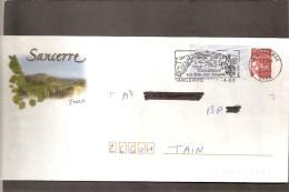 """Lettre  PAP De  \"""" Sancerre \""""  ( 18 ) Du  1-7-2003   Flamme  De  Sancerre ( 18 )  Sur  Facsimilé N° 3417 - Enteros Postales"""