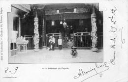 VIET-NAM SAIGON INTERIEUR DE PAGODE CARTE PRECURSEUR - Viêt-Nam