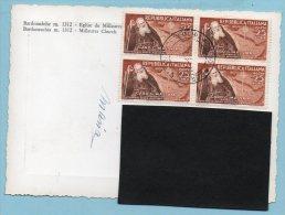 Lire 25 1952 - Centenario I Missione In Etiopia Card. Massaia (quartina) Su Cartolina Bardonecchia - Chiesa Di Millaures - 6. 1946-.. Repubblica
