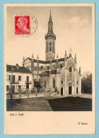 Lire 20  Su Cartolina - Ciriè - S. Carlo, Il Duomo - 1900-44 Vittorio Emanuele III