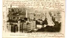 EDINBURGH FROM CALTON HILL - EARLY POSTCARD - 1903 With French Stamp - Midlothian/ Edinburgh