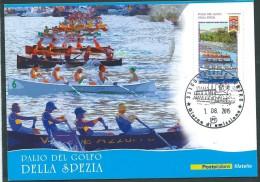Italia, Italy 2015 ; Palio Del Golfo Della Spezia , Gara A Squadre Di Canottaggio: Maximum Card E Anche FDC A Treviso - Canottaggio