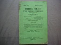 BULLETIN D´ETUDES ET DE CRITIQUE AGRICOLES N°15 JANVIER FEVRIER MARS 1934 32 PAGES - Sciences