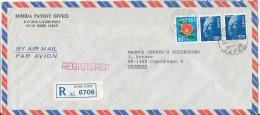 Japan Registered Air Mail Cover Sent To Denmark Kobe Port 26-11-1981 - Posta Aerea