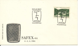 Finland FDC 4-5/4-1964 SAFEX-64 With Cachet - FDC