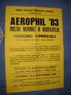 MANIFESTO - AEROPHIL 1983 - CIRCOLO FILATELICO LIVORNESE - LIVORNO - MOSTRA NAZIONALE DI AEROFILIA