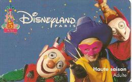 PASS-DISNEYLANDPARIS -1997-5 ANS-ADULTE--V°SPEOS- N° S 970626-TBE- - Pasaportes Disney