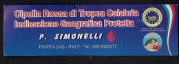 # CIPOLLA ROSSA DI TROPEA Italy Tag Balise Etiqueta Anhänger Cartellino Oignon Zwiebel OnionLegume Gemuse Vegetables - Fruits & Vegetables