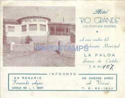 15552 ARGENTINA CORDOBA LA FALDA HOTEL RIO GRANDE PUBLICITY COMMERCIAL NO POSTAL POSTCARD - Vieux Papiers
