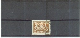 POLEN , Poland , 1946 / 1950 , Oo , Used , Gestempelt , Mi.Nr. Portomarke 106 A - Postage Due