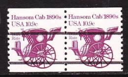 U.S. 1904aX2    **   HANSOM CAB - Coils & Coil Singles