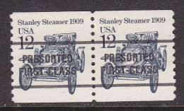 U.S. 2132bX2    17 2/3  Type II  **   STANLEY STEAMER AUTO - Coils & Coil Singles