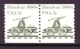 U.S. 1898X2  **  RXR HANDCART - Coils & Coil Singles