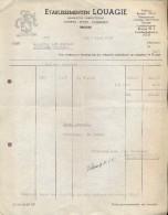 Factuur Facture - Ets. Louagie - Stoffen Zijde - Brugge 1941 - Textile & Vestimentaire