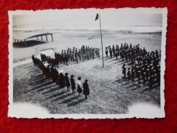 PALAVAS 1943 SCOUTS LEVEE DU DRAPEAU INSTITUT St PIERRE PHOTO 9 X 6 - Luoghi
