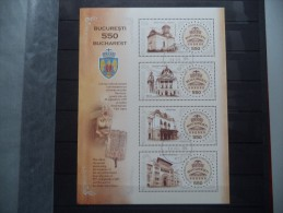 2009 Romania - Architecture , Art , Church , Old Bucharest - Block - Used MNH - Iglesias Y Catedrales