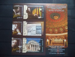 2011 Romania - Architecture , Art , Building , Personality , G. Enescu - Block - Used - MNH - Monumentos