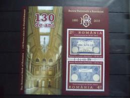 2010 Romania - BNR , Architecture - Block - Used - MNH - Arquitectura