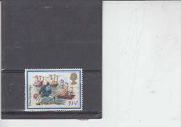 GRAN BRETAGNA 1982  - Unificato  1064 - Natale - Navi - Usati