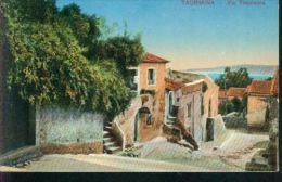 Rarit�t Taormina Sicilia Sizilien Italien Via Fimoleone Casa Haus um 1910