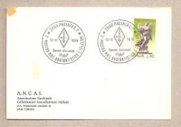 Italia - cartolina con annullo speciale: Mostra Radiantistatico e Telecom. - Piacenza 1976