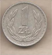 Polonia - Moneta Circolata Da 1 Zloty - 1974 - Polonia