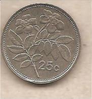 Malta - Moneta Circolata Da 25 Centesimi - 1986 - Malta