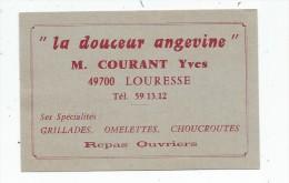 Carte De Visite LA DOUCEUR ANGEVINE , Courant Yves , 49 , LOURESSE - Cartoncini Da Visita