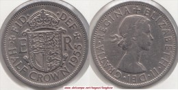 Gran Bretagna ½ Crown 1955 KM#907 - Used - 1902-1971 : Monete Post-Vittoriane