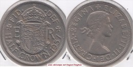 Gran Bretagna ½ Crown 1957 Km#907 - Used - 1902-1971 : Monete Post-Vittoriane