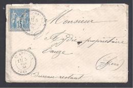 GERS - Cachet Perlé De ST CHRISTIE - Marcophilie (Lettres)